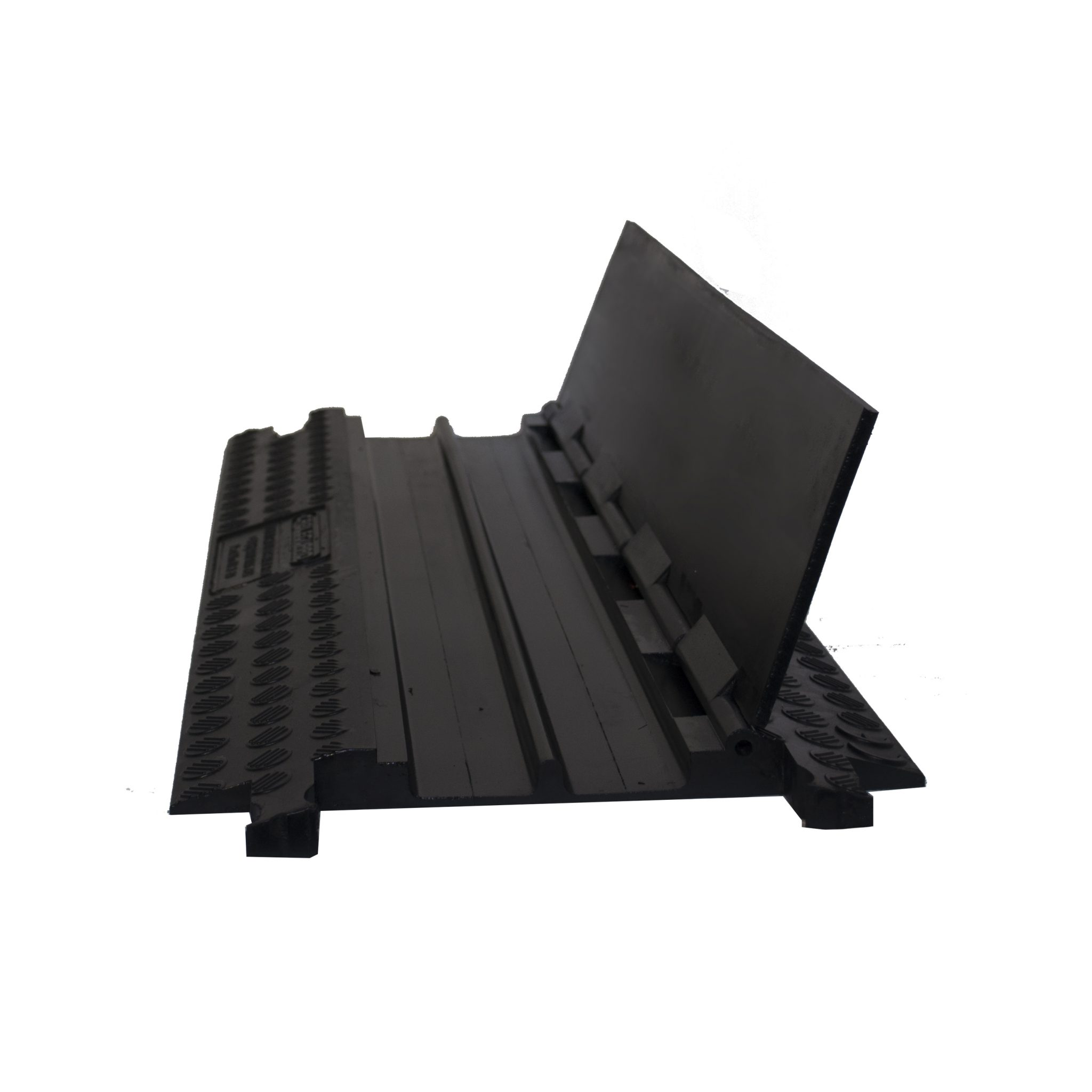 Cable Protector Ramp, Black Line, 2 Channels - 100cm