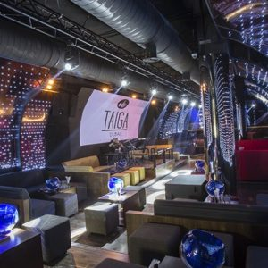 Curved LED wall built for Taiga Club in Dubai