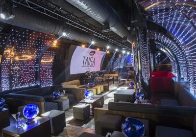 Taiga Club in Dubai, choses Procom to build Curved LED wall