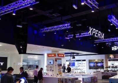 Sony flagship store -Dubai Mall for full entertainment lighting set up