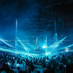 Laser show solution for Dubai club