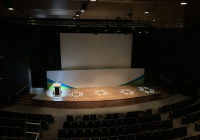 Mohammed Bin Rached University main auditorium stage full lighting and rigging solution