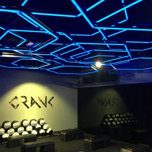 Crank Gym chooses Madrix and Cyclops Lighting to uplift their member's workout experience