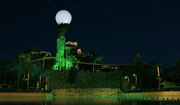 Yas Waterworld Gets Park-Wide Architectural Lighting & Mapping with Cyclops Lighting and Madrix